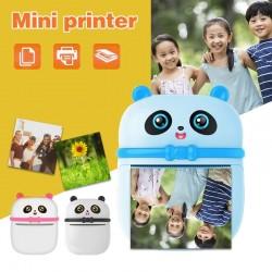 Portable mini thermal printer - fast printing - Bluetooth / IOS / Android / Windows - panda shape
