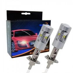 Ampoule LED H1 - Haute Puissance - 60W - Puce CREE - 6000K - 2 pièces
