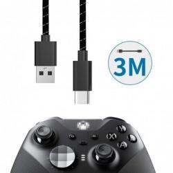 Schnellladekabel - Datenübertragung - USB Typ-C - für Xbox One Elite 2 / NS Switch Pro - 3M