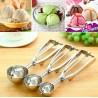 4CM 5CM 6CM Ice Cream Mash Potato Scoop Stainless Steel Spoon Spring Handle