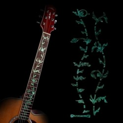 Guitar Inlay Decals Sticker Fretboard Markers Tree Of Life Green Ultra Thin Sticker for Electric Acoustic Classical Guitar Bass