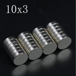 N35 - Neodym-Magnet - superstarke runde Scheibe - 10mm x 3mm