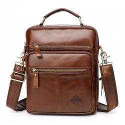 Luxurious shoulder bag - genuine leather