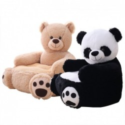 Bear / panda shaped small sofa - seat - plush toy - for children