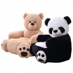 Kleines Sofa in Bären- / Pandaform - Sitz - Plüschtier - für Kinder