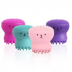 Silicone face cleansing brush - octopus shape
