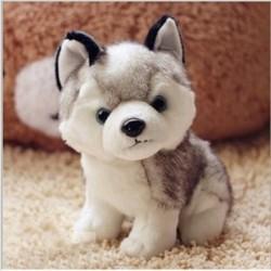 Husky dog - plush toy - 18cm