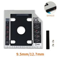 HDD Caddy - SSD SATA 3.0 - 2.5 - Hard Disk enclosure - adapter - optical Bay - 9.5mm / 12.7mm