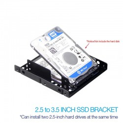 UTHAI G16 - thick - double-layer hard drive bracket - 2.5 to 3.5 inch hard disk Bay