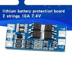 2S - 10A - 7,4V - 8,4V - 18650 Lithium-Batterie-Schutzplatine