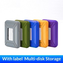 3.5 inch hard drive HDD protection box - storage case - with label