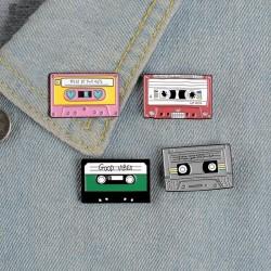 90's music tape - vintage enamel pin