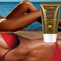 Self tanning lotion - bronzer - quick coloring - for face / body - 50ml