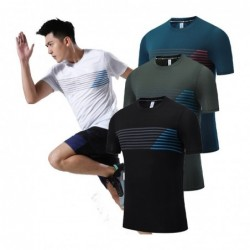 Men's sport t-shirt - breathable - elastic - quick dry