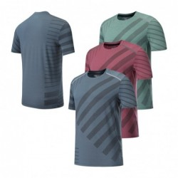 Men's sport t-shirt - elastic - quick drying - graphic print