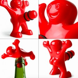 Funny Happy Man Guy Wine Stopper Bottle Plug