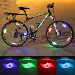 Bicycle wheel spoke light - LED - safety / warning light - waterproof