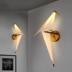 LED Wandleuchte - Origami Papier Vogel Design