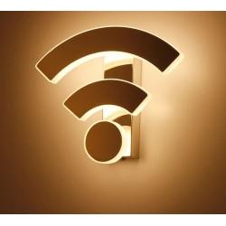 Applique moderne en acrylique - LED - Design WiFi
