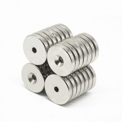 N35 - neodymium magnet - round countersunk - 50 * 5mm - with 6mm hole