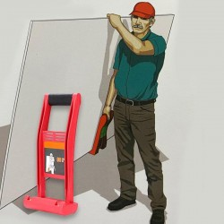 Giant panel carrier - board - carrying handle - 80 kg load