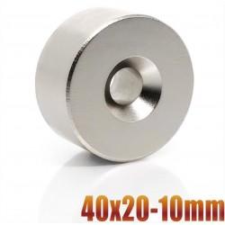 N35 - Neodym-Magnet - runde Senkscheibe - 40 * 20mm - mit 10mm Loch