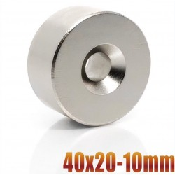 N35 - neodymium magnet - round countersunk disc - 40 * 20mm - with 10mm hole