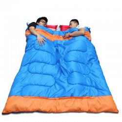 Saco de dormir doble - con cremallera - abrigado - impermeable
