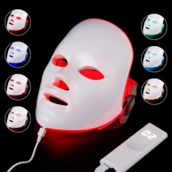 Beauty face mask - 7 colors light LED - skin rejuvenation - anti acne - whitening - anti wrinkle - phototherapy