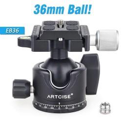 EB36 - tripod ball head - low profile - quick release plate - 15kg