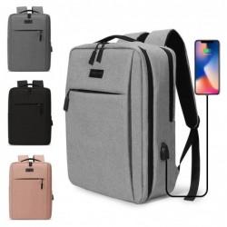 Bolso para portátil de moda - mochila - con puerto de carga USB - resistente al agua