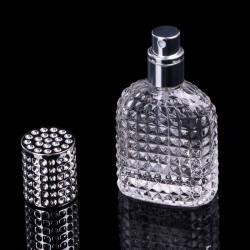 Flacon en verre rechargeable pour parfum avec atomiseur 30 ml - 50 ml