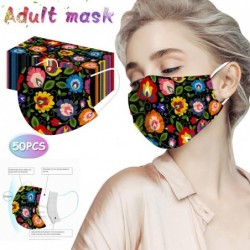 Face / mouth protection mask - disposable - for adults - flowers print