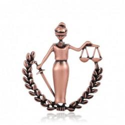Peace Woman - lawyer badge - metal brooch