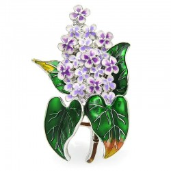 Enamel Lilac Flower Brooches Beauty Spring 4-color Clove Flower Party Office Brooch Pins Gifts