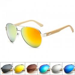 Bamboo & metal - gafas de sol hechas a mano - unisex