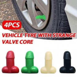 Universal Reifenventile - leuchtend - für Autos / Fahrräder / Motorräder - Penisform - 4 Stück