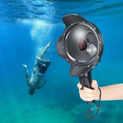 Diving dome port - waterproof filter case - switchable - for GoPro Hero 7 6 5 Black