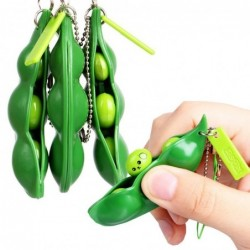 Squeezable peas - anti stress fidget toy - with keychain