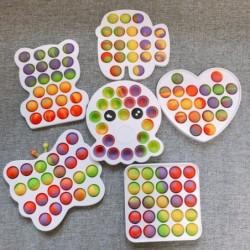 Colorful push fidget - anti stress toy - rainbow Pop It