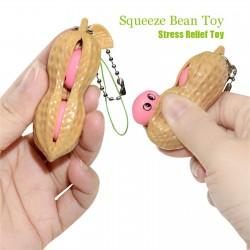 Squeeze bean - anti-stress fidget toy - with keychain