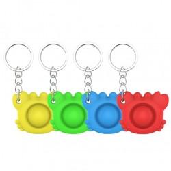 Krabbenförmiges Zappeln - Anti-Stress-Spielzeug - mit Schlüsselanhänger - Push-Bubble Pop It