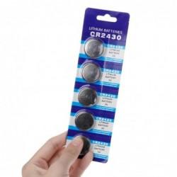 Button lithium battery - CR2430 - 3V - 5 pieces