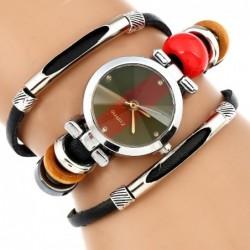 Gnova - platinum Quartz watch - with three-layer genuine leather strap