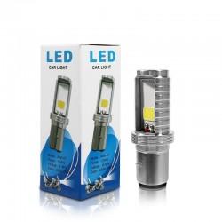 LED motorcycle / car bulb - white Hi/Lo beam - 12V - 12W - 1200Lm - BA20D