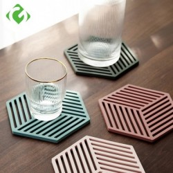 Silicone coaster - heat-insulation mat - for tableware