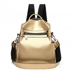New Solid Color Women Multifunction Backpack Designer Simple College Style School Bag for Teenage Girls 2020 Travel Shoulder Bag
