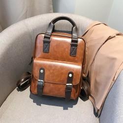 Women Anti Theft Backpacks Students Brown School Bags for Teenage Girls Waterproof Vintage Laptop Leather Big Travel Backpack