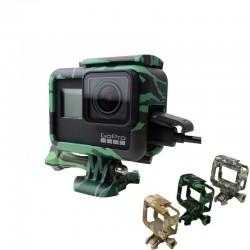 Rahmenschutzhülle - lange Schraube - Basishalterung - für GoPro 5 6 7 Schwarz