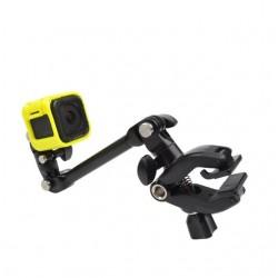 Clamp clip mount - selfie stick - flex jaw - for GoPro Hero 8 9 10 Xiaomi YI 4K SJ4000 SJ5000 SJ6000